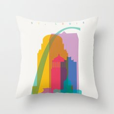 Shapes of St. Louis. Accurate to scale Throw Pillow