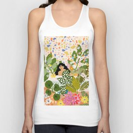 Bathing with Plants Unisex Tank Top