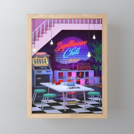 Synthwave And Chill Framed Mini Art Print