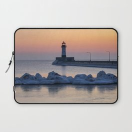 Sunrise at North Pier Lighthouse Laptop Sleeve