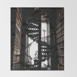 Trinity College Library Spiral Staircase Throw Blanket