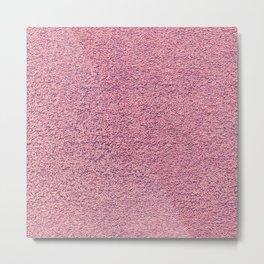 Pink Shag pile carpet Metal Print