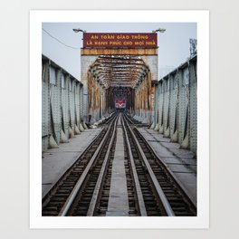 Hanoi Train Art Print