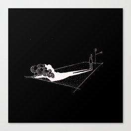 Shadow Coat-sketch Canvas Print