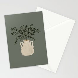 Vase no. 31 with Winter Greenery  Stationery Cards