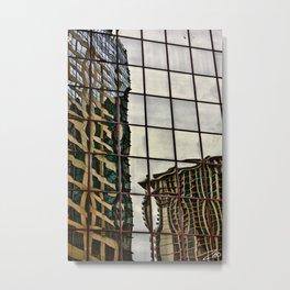 Destroyed Metal Print
