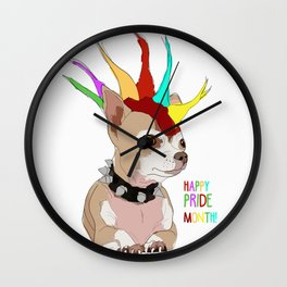 Happy Pride Month-Bad Ass Chihuahua Wall Clock