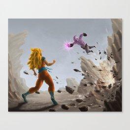 Goku vs Buu Canvas Print