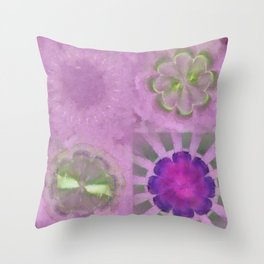 Orchiodynia Naked Flowers  ID:16165-011345-35260 Throw Pillow