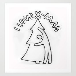 Love Christmas! Art Print