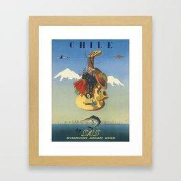 Vintage poster - Chile Framed Art Print
