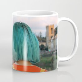 Blue Hair Japan Girl - Florence Coffee Mug