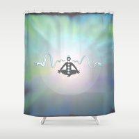 zen Shower Curtains featuring Zen by Janss