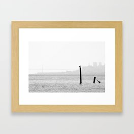A bird Framed Art Print