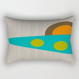 Abstract Mid-Century Rectangular Pillow