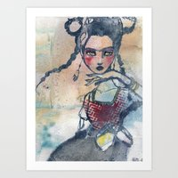 jane davenport Art Prints featuring Frida is an Emotion by Jane Davenport by Jane Davenport