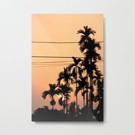 Betel Nut Sunset Metal Print