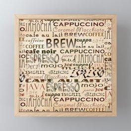Coffee and Cream Framed Mini Art Print