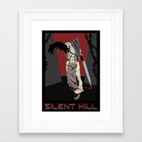 silent hill Framed Art Prints featuring Silent Hill Propoganda by JonnyHinkleArt