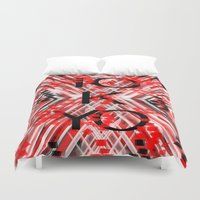 camo Duvet Covers featuring CAMO TOKYO by Chrisb Marquez
