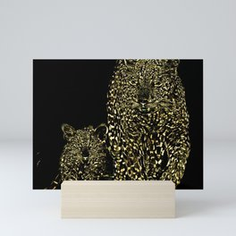 Big Cat Models: Magnified Snow Leopard and Cub 01-01 Mini Art Print