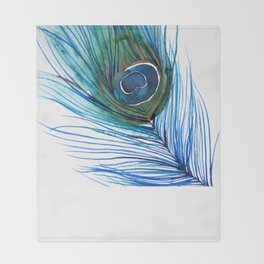 Peacock Feather I Throw Blanket