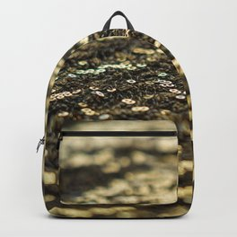Gold Sequin Backpack