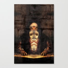 Self-portrait as Abomination (After Titian) Canvas Print