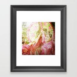 korean smile Framed Art Print