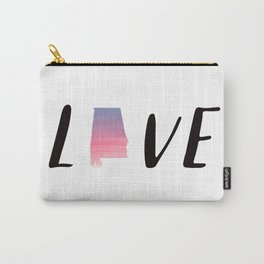 Alabama Love - Sunset Watercolor State Carry-All Pouch