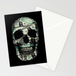 SKULL MONEY BLACK Stationery Cards