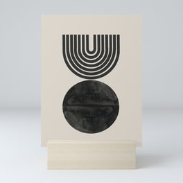 Woodblock Print, Modern Art Mini Art Print