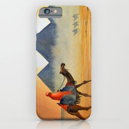 Sudden Sand Storm At Giza Pyramids Egypt iPhone Case