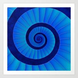 stairway to blue Art Print