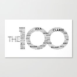 The 100 - Typography Art [black text] Canvas Print