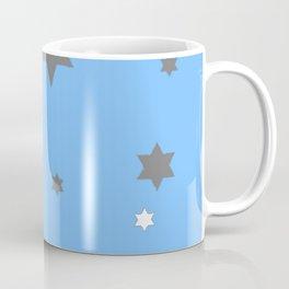 SIMPLY GREY & WHITE STARS ON BABY BLUE DESIGN Coffee Mug