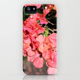 Hot Coral Floral iPhone Case