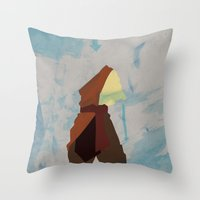 aang Throw Pillows featuring Aang by JHTY