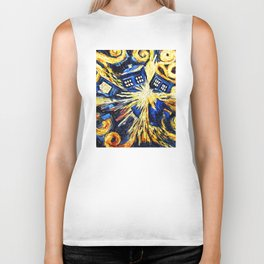 Tardis By Van Gogh - Doctor Who Biker Tank