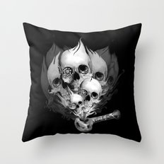 Faded Youth, smoke skulls Throw Pillow