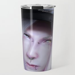 Humanoid Black Dragon Travel Mug