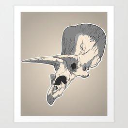 Triceraskull Art Print