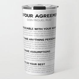 the four agreements Travel Mug