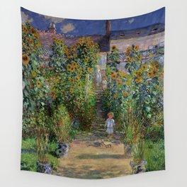 """Claude Monet """"Monet's garden at Vétheuil"""", 1880 Wall Tapestry"""