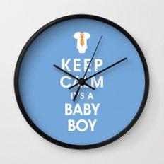 Keep Calm It's A Baby Boy Wall Clock