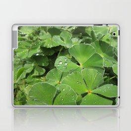 Green Clovers Laptop & iPad Skin