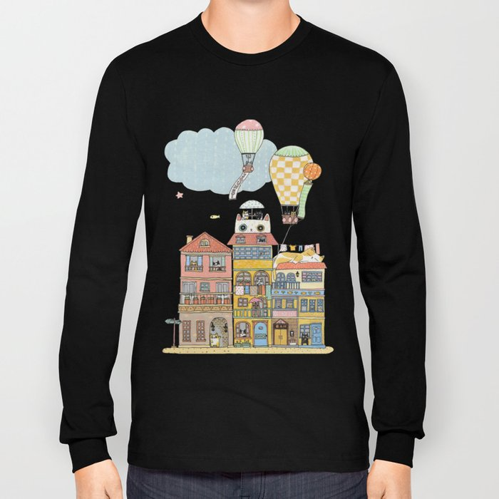 79 Cats in Harbor City Long Sleeve T-shirt
