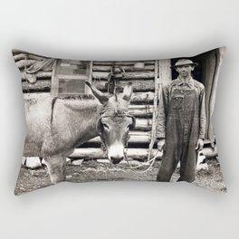 l'homme et son âne Rectangular Pillow