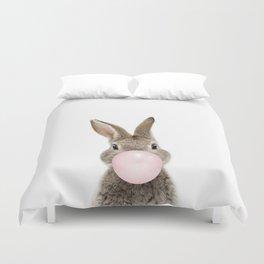 Bubble Gum Bunny Duvet Cover