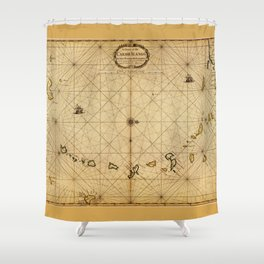 A chart of the Caribe Ilands (1680) Shower Curtain
